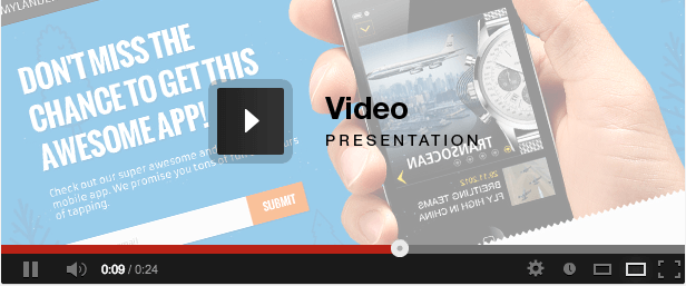 My Landert - App Responsive Landing Page video presentation