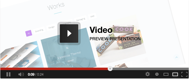 Valencia - Creative Flat iOS7 Inspired Template video preview