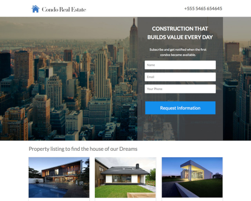 Condo - Real Estate Lead Generation Template