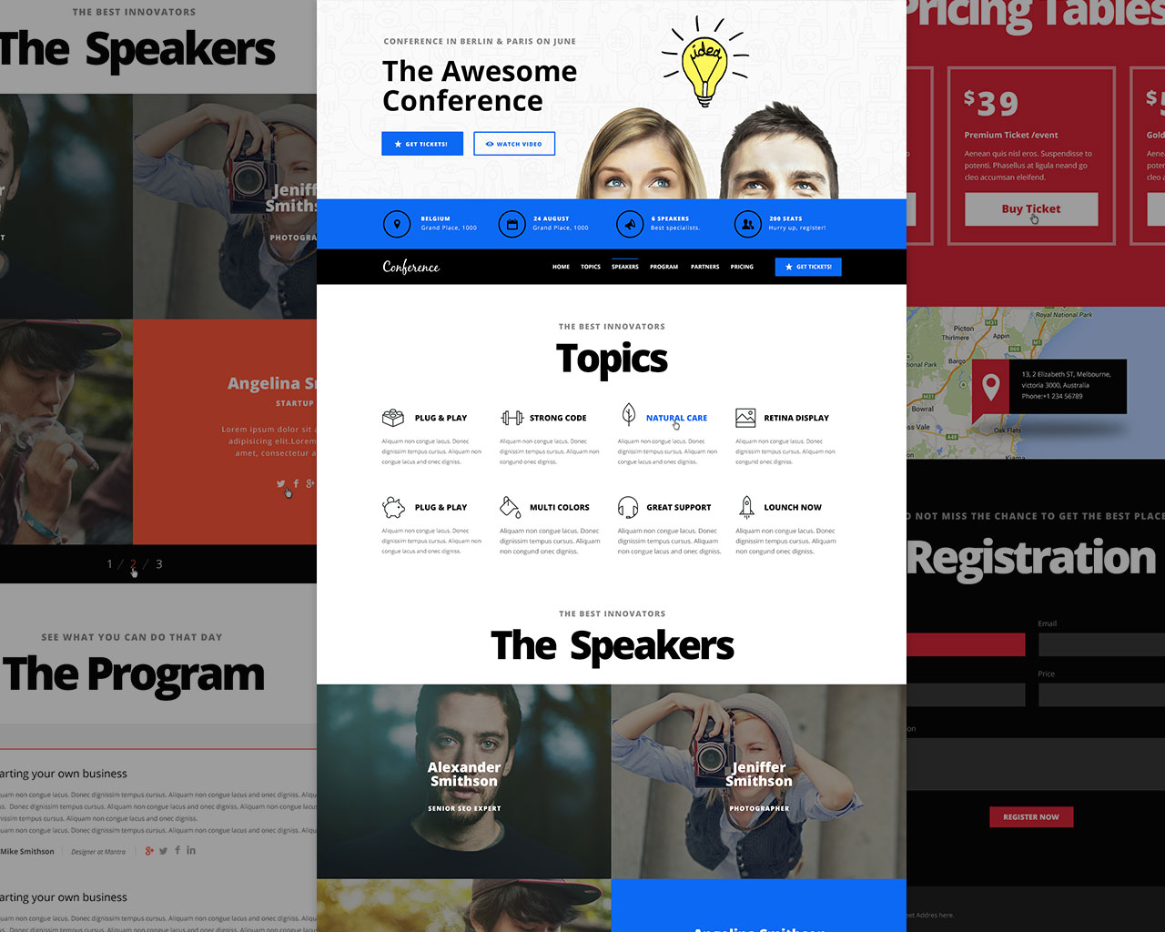 Conference Events Landing Page Template