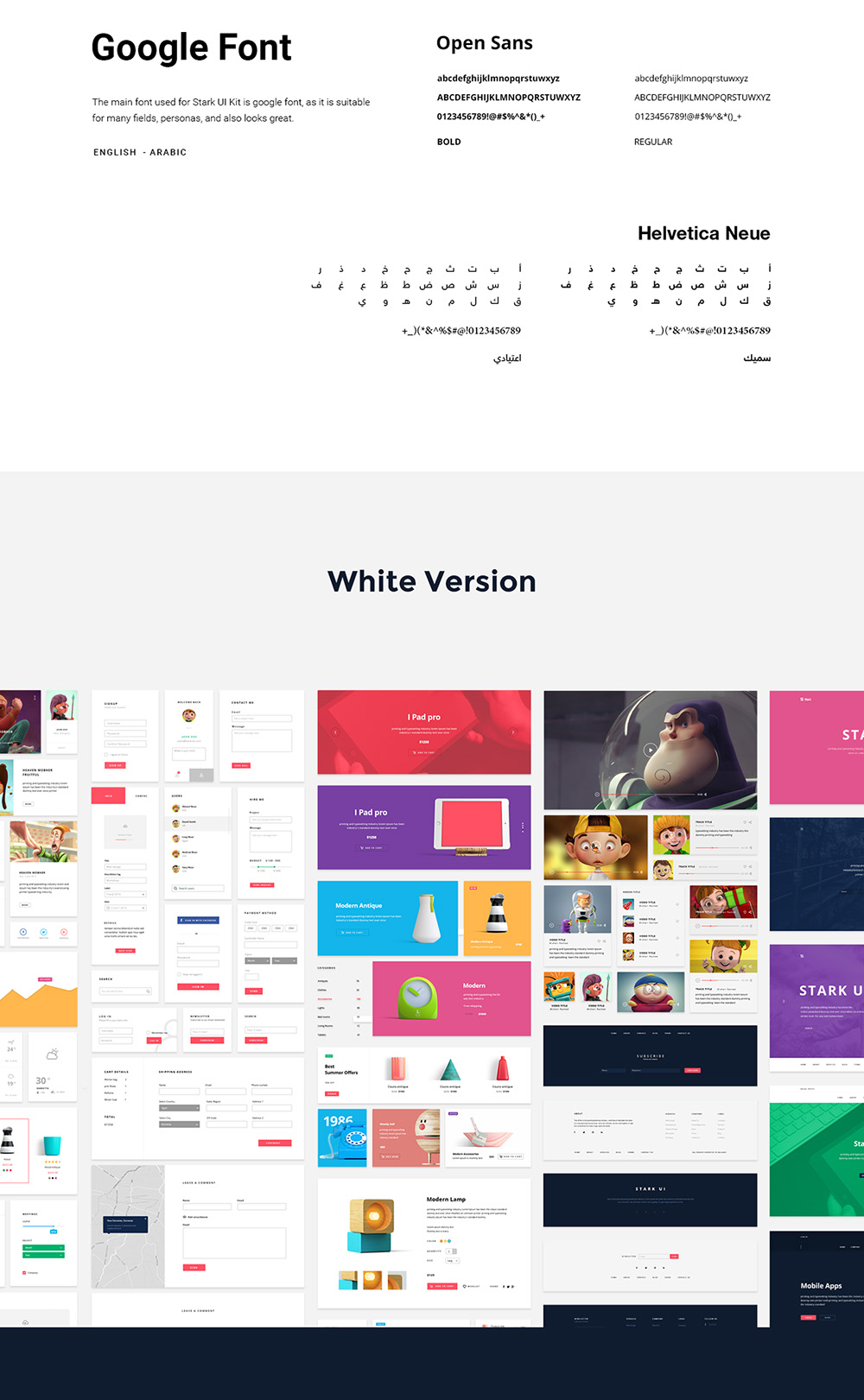 UI Kit, Web Design, Websites, Prototype, Freebies