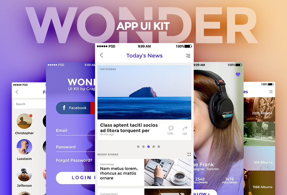 wonder-app-ui-kit-vol1
